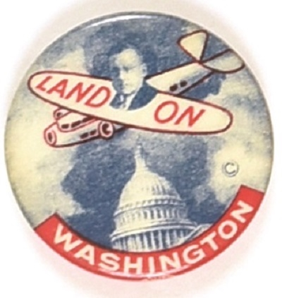 Alf Landon Classic Land On Washington Pin
