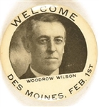 Welcome Woodrow Wilson Des Moines Iowa Pin