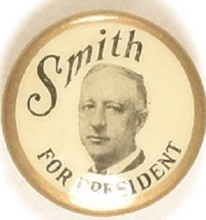 Al Smith for President Gold Border