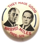 Franklin Roosevelt, Miles They Made Good New Mexico Coattail