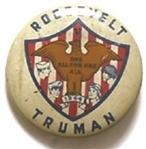 Roosevelt, Truman All for One 1944 Shield and Eagle Pin