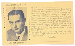 Lyndon Johnson, Roosevelt and Unity Postcard