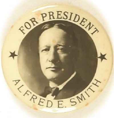 Smith for President Pair of Stars Celluloid, Different Photo