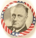 Franklin Roosevelt Stars and Stripes Border, Gray Background
