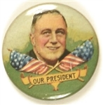 Franklin Roosevelt Colorful Litho