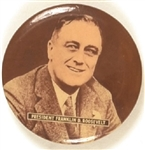 Franklin Roosevelt Head and Shoulders Celluloid