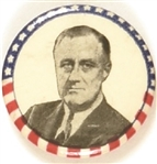 Franklin Roosevelt Stars and Stripes Border, White Background