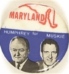 Humphrey, Muskie 1968 State Set Maryland
