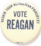 Reagan Regain Your Republican Principles Massachusetts 1976