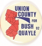 Union County, NJ, for Bush and Quayle