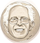 Bernie Sanders Limited Edition Black and White Pin