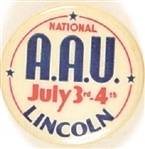 National AAU 1939 Celluloid