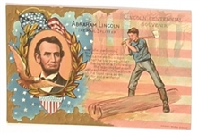 Abraham Lincoln Embossed Postcard
