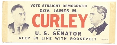 Franklin Roosevelt, Curley Massachusetts Coattail Sticker