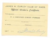 James M. Curley Club of Massachusetts Card