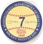 Mickey Mantle Day Pennsylvania Dept. of Health
