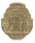 Jeffries, Johnson 1910 Boxing Fob