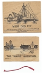 The Maine Question Spanish-American War Novelty