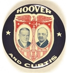 Hoover and Curtis Exceptionally Rare Shield and Eagle Large Jugate