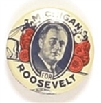 Michigan for Roosevelt Rare Celluloid Version