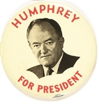 Humphrey for President Large, Scarce Celluloid