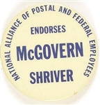 McGovern, Shriver National Alliance of Postal and Federal Employees
