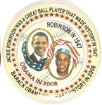 Obama, Jackie Robinson 3-D Pin from 2008