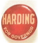 Harding for Governor Ohio Celluloid