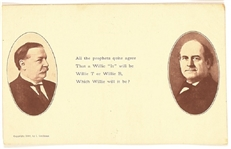 Taft, Bryan Which Willie Will it Be Postcard