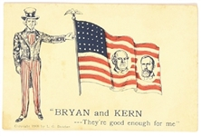 Bryan, Kern Uncle Sam Postcard