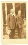 Coolidge and Father Postcard