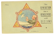 FDR Rendezvous with Destiny Postcard