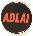 Adlai Stevenson Black and Pink Celluloid