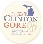 Clinton, Gore Michigan Alternate Delegate Celluloid