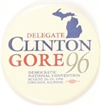Clinton, Gore Michigan Delegate Celluloid