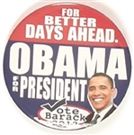 Obama for Better Days Ahead