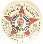 Obama Nomination 3-D Pin