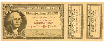 Hoover 1932 Republican Convention Ticket
