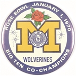 Michigan 1970 Rose Bowl 6 Inch Celluloid