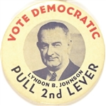 Lyndon Johnson Pull 2nd Lever