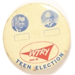 Station WTRY Johnson-Goldwater Teen Election