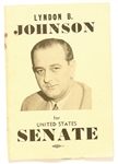 Lyndon B. Johnson for United States Senate Booklet