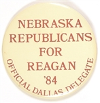 Nebraska Republicans for Reagan Delegate Pin