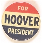 Hoover for President RWB Celluloid