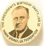 Roosevelt Warm Springs Birthday Party