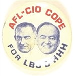 AFL-CIO Cope for Johnson, Humphrey