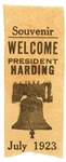 Welcome President Harding West Coast Tour Ribbon