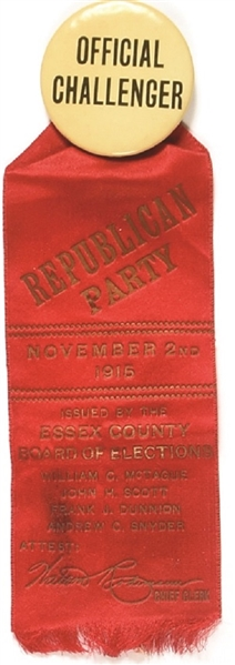 New Jersey 1916 Challenger Pin and Ribbon