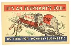 Hoover Its an Elephants Job Postcard