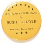 Bush, Quayle Michigan Republicans